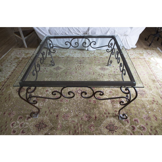 Brimfield Iron and Glass Coffee Table - Image 2 of 4