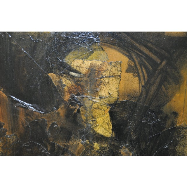 Vintage Abstract Painting C.1970s For Sale - Image 5 of 5
