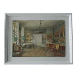 Intricate Rendering of a Historical Drawing - Sitting Room 3 For Sale