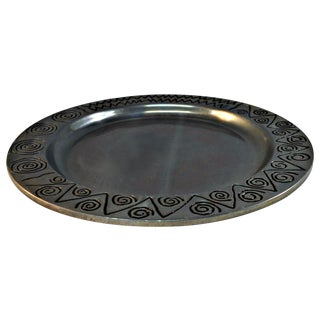 Wilton Co. Pewter Decorative Tray For Sale