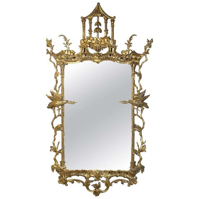 George II Chinese Chippendale Wall Mirror For Sale - Image 13 of 13