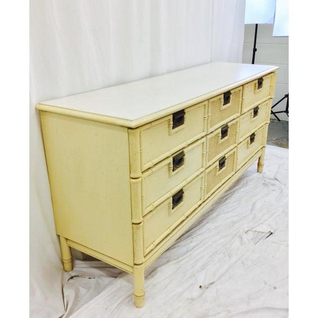 Wood Vintage Faux Bamboo Dresser For Sale - Image 7 of 10