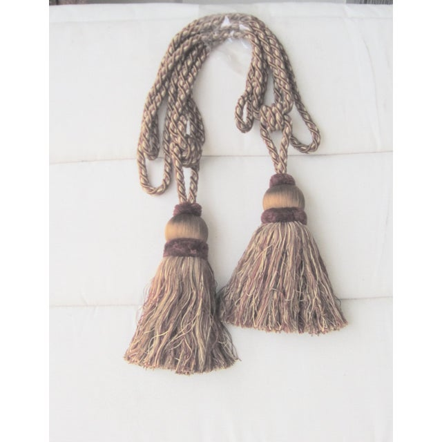Edwardian Very Large Single Tassel Tie Backs- A Pair For Sale - Image 3 of 3