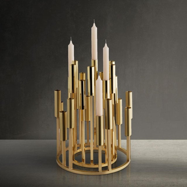 Borgia Brass Chandelier, Carla Baz For Sale - Image 6 of 8