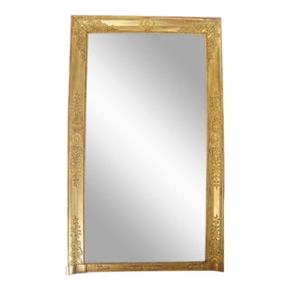 Mid 19th Century Large French Charles X Gilt Wood Pier Mirror For Sale