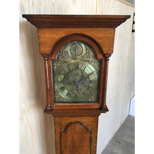 18th Century Longcase 8 Day Time & Strike Clock For Sale - Image 4 of 13