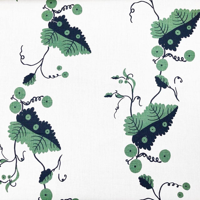 Boho Chic Nicholas Haslam Greenbrier Linen Designer Fabric by the Yard For Sale