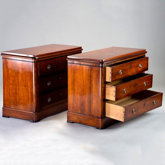 English Mahogany Chests With Black Detailing - a Pair For Sale - Image 4 of 11