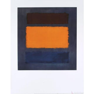 Mark Rothko Untitled, Brown and Orange on Maroon Poster For Sale