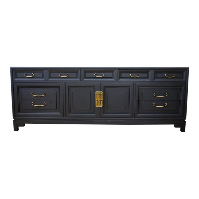 Mid Century Modern Black Dresser - Image 1 of 9