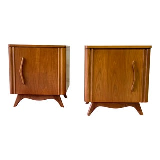 Funky Mid Century Modern Nightstands / End Tables For Sale