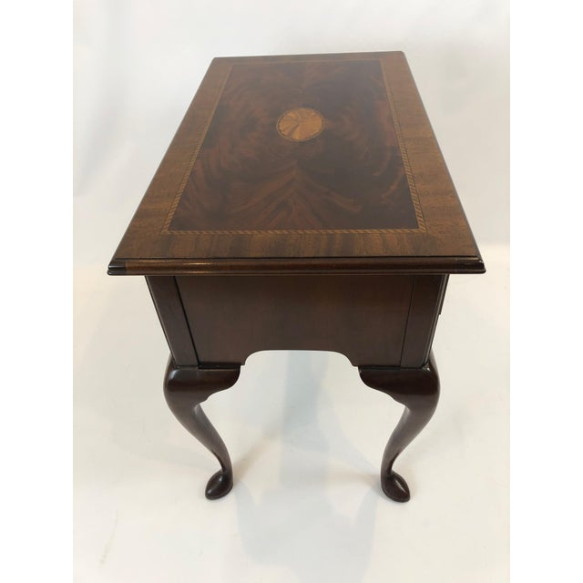 Metal 1990s Councill Furniture Flame Mahogany Lowboy For Sale - Image 7 of 11