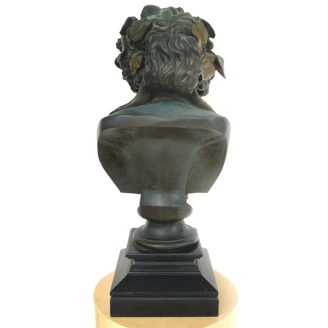 Gold F. Barbedienne Fondeur Bronze Statue of Antinous as Dioniso For Sale - Image 8 of 12