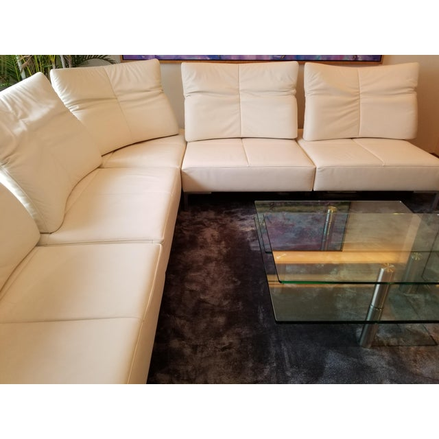 De Sede White Leather L-Shaped Sectional For Sale - Image 5 of 11