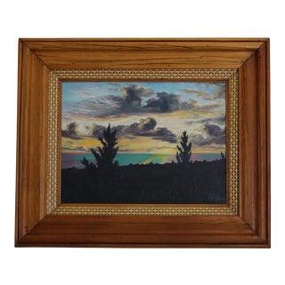 John De Ponce Hawaiian Sunset Landscape Painting For Sale