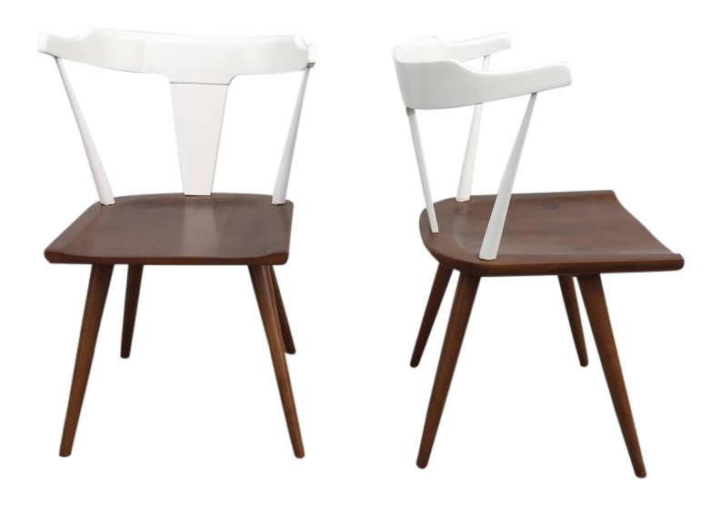Pair Of Paul McCobb Two Tone Planner Chairs For Sale
