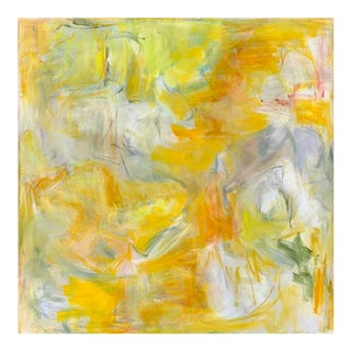 """""""Yellow River"""" by Trixie Pitts Large Abstract Expressionist Oil Painting For Sale"""