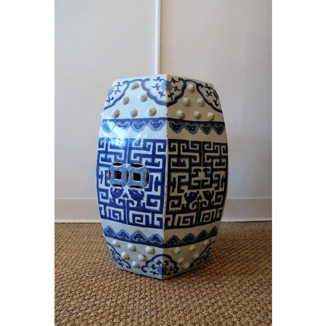 Hexagonal Blue White Chinese Garden Stools Chairish