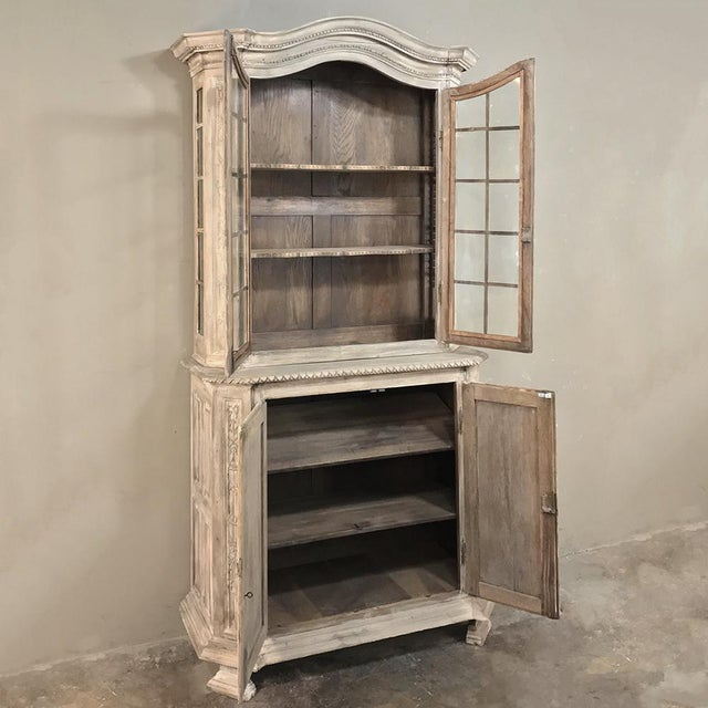 Mid 19th Century 19th Century Country French Louis XVI Stripped Bookcase ~ Vitrine For Sale - Image 5 of 13