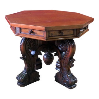 20th Century Renaissance R. J. Horner Style Center Table For Sale