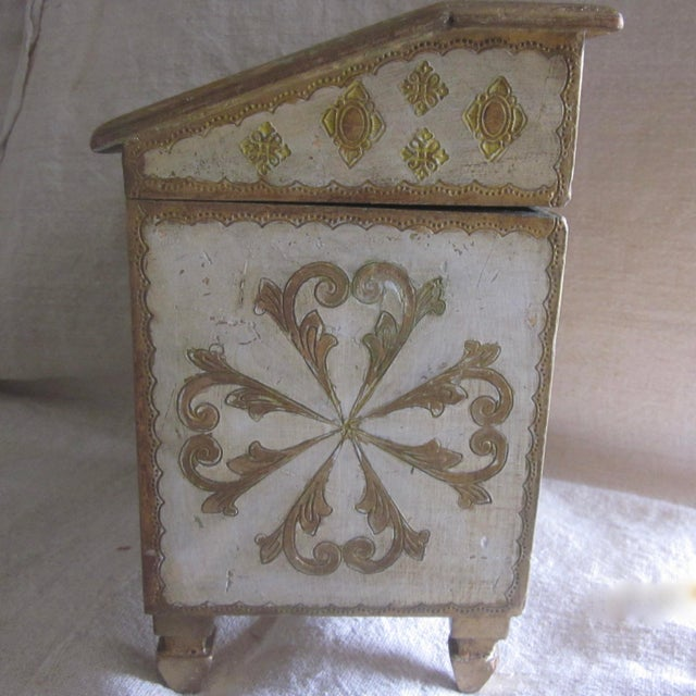 Vintage Florentine Miniature Storage Chest For Sale - Image 5 of 9