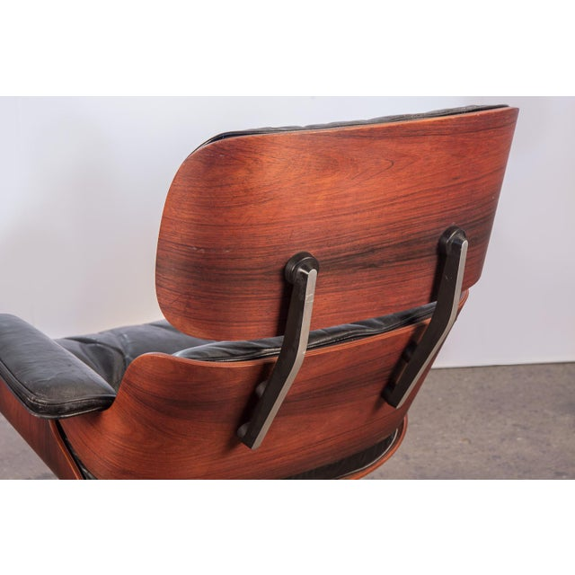 Black Second Generation 1960s Eames 670 Lounge Chair for Herman Miller For Sale - Image 8 of 11