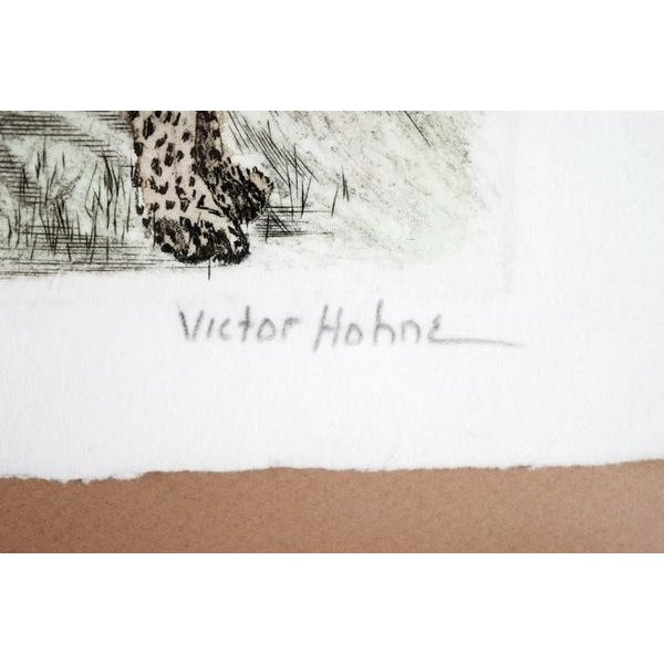 Hand-Colored Cheetah Engraving by Victor Hohne - Image 3 of 7