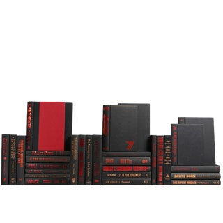 Modern Black and Red Accented Books, S/30 For Sale