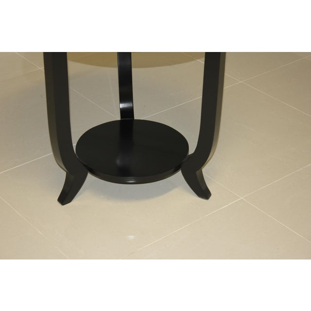 1940s French Art Deco Black Ebonized Coffee / Side Table For Sale In Miami - Image 6 of 13