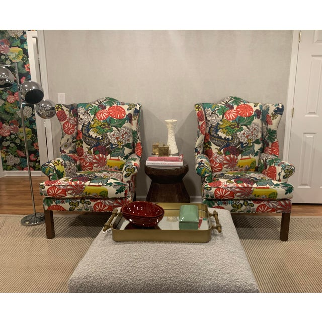 Textile Mai Dragon Club Chair For Sale - Image 7 of 11