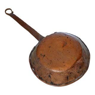 Antique Copper Saucepan For Sale