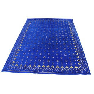 Custom Blue & Gold Stark Area Rug- 8′ × 10′ For Sale