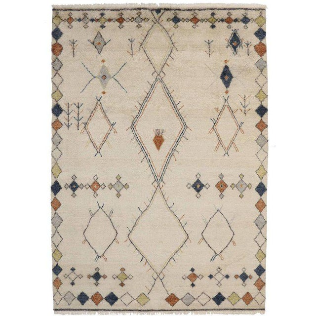 Contemporary Moroccan Style Area Rug with Modern Tribal Design For Sale - Image 4 of 4
