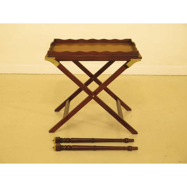 Baker Mahogany Serving Tray Table For Sale - Image 13 of 13