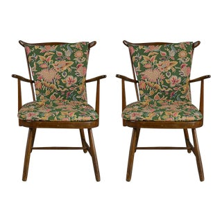 Country Cosy Armchairs - A Pair For Sale