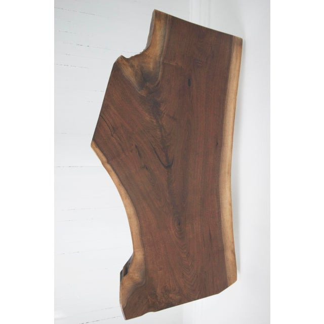 Solid Walnut Slab Coffee Table With Tapered Walnut Legs For Sale - Image 5 of 8