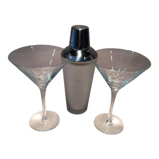 Grey Goose Cocktail Shaker & Glasses Set For Sale