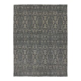 Image of New Transitional Dark Gray Ikat Area Rug With Modern Style - 08'10 X 11'09 For Sale