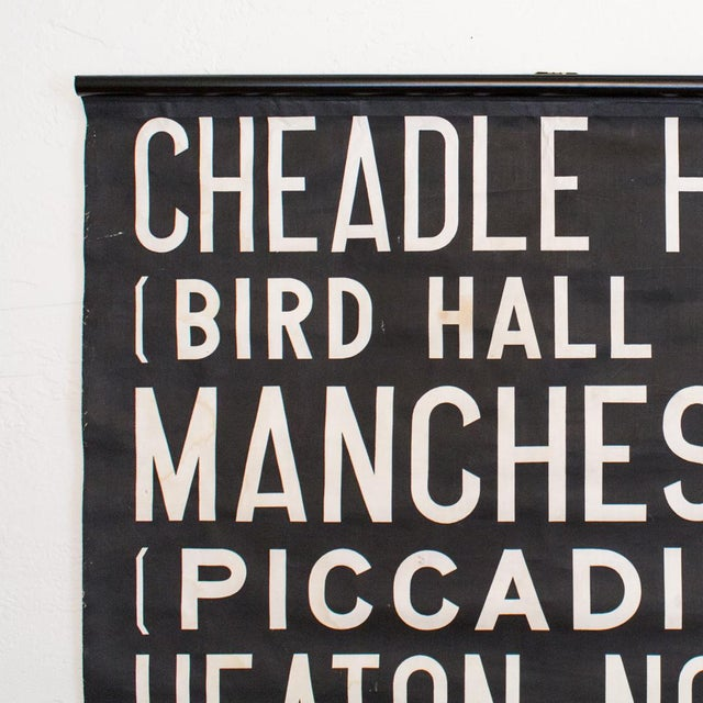 Vintage British Transit Route Signs were hand screen printed on linen between the 1930's – 1980's. The pieces in our...