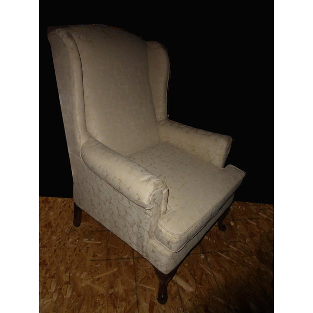 Vintage French Country Wingback Chair - Image 5 of 11