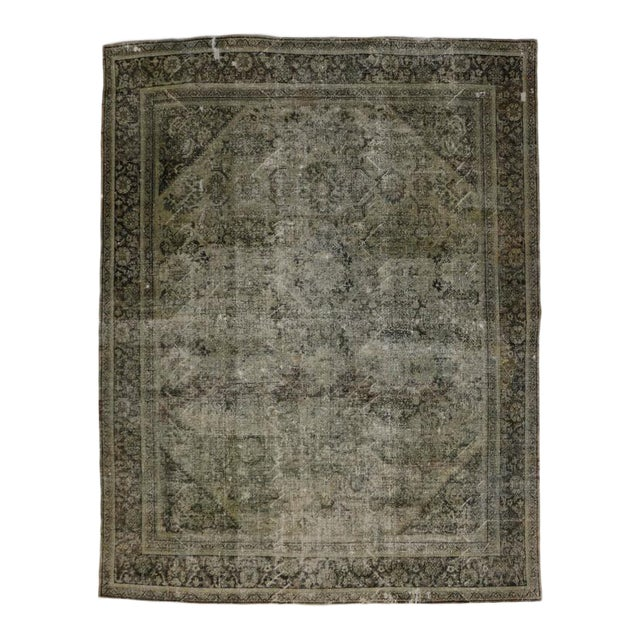 Distressed Antique Persian Mahal Rug With Modern Industrial Style, 10'06 X 13'07 For Sale