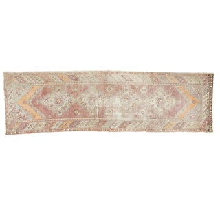 Vintage Oushak Distressed Rug Runner - 3' X 10'