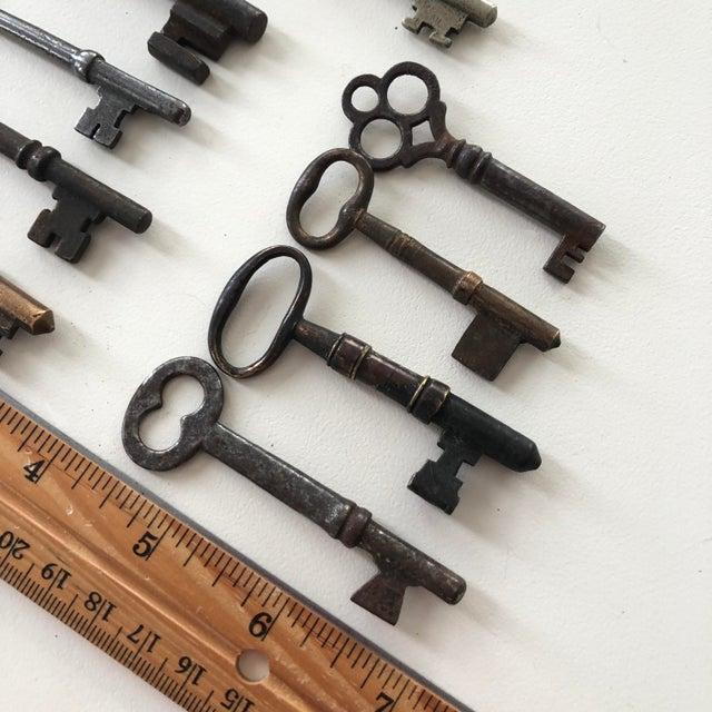 Dark Gray Set of 9 Antique & Vintage Keys For Sale - Image 8 of 13