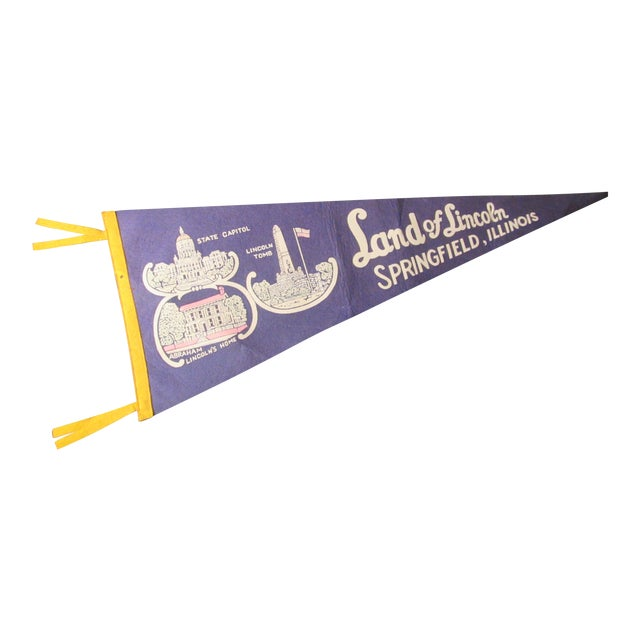 Land of Lincoln Tourism Pennant - Image 1 of 7