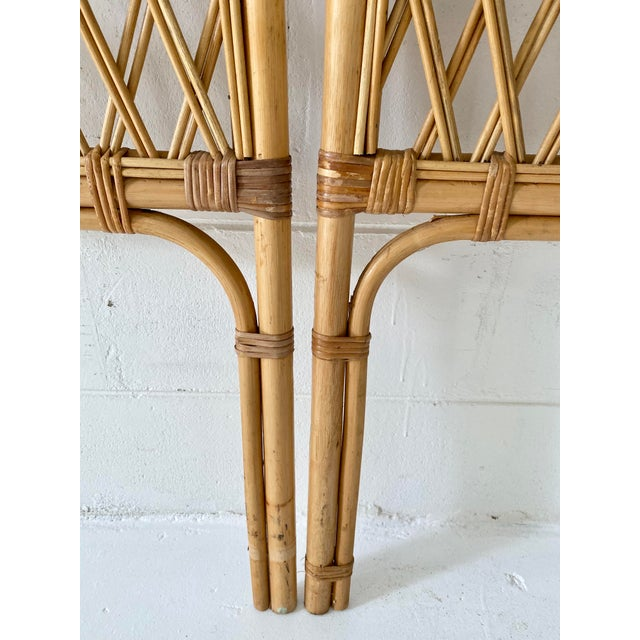 Vintage Rattan Headboards- a Pair For Sale - Image 11 of 13