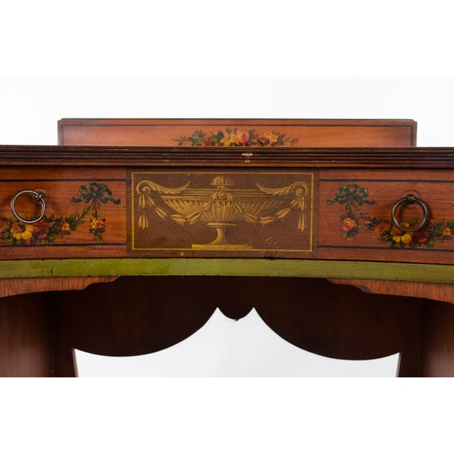 Mid 19th Century Mid 19th Century Vintage French Provincial Hand Painted Writing Desk For Sale - Image 5 of 13