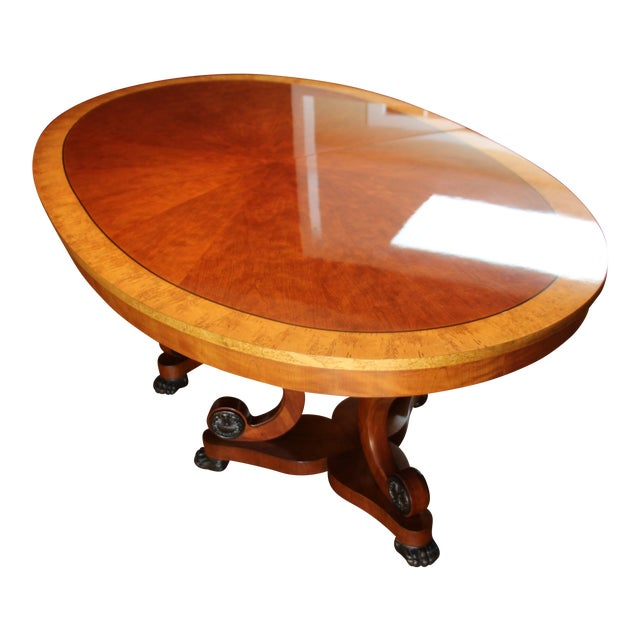 Henredon Oval Dining Table - Image 1 of 6