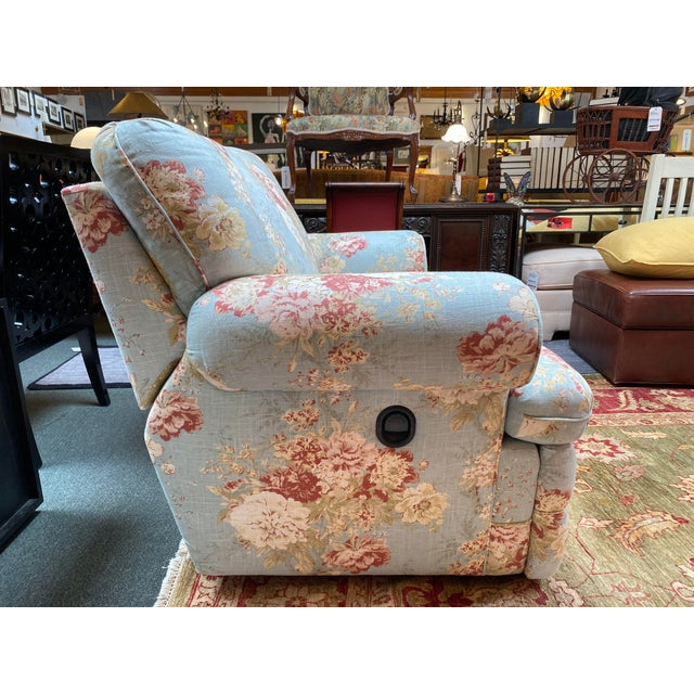 La-Z Boy Shabby Chic Arm Chair Recliner For Sale - Image 4 of 12