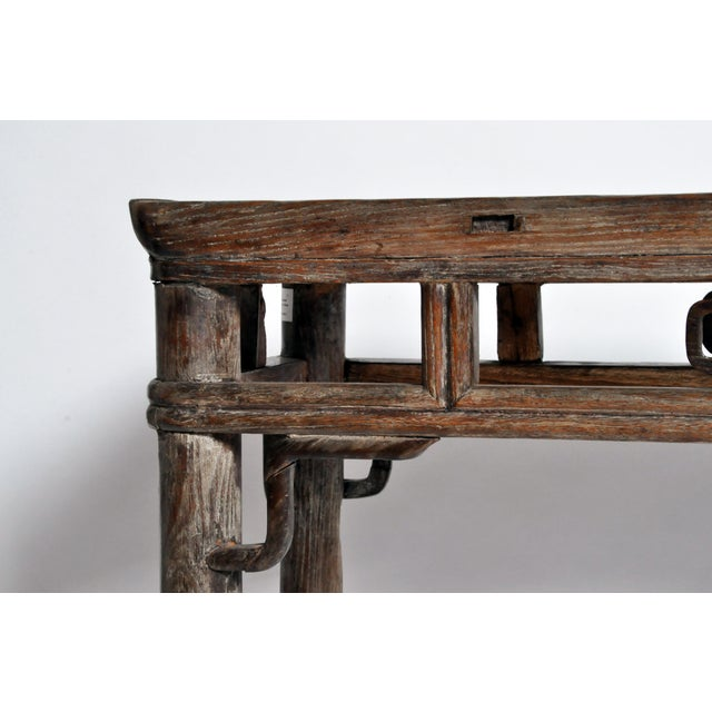 Qing Dynasty Altar Table with Rounded Legs and Original Lacquer - Image 9 of 11