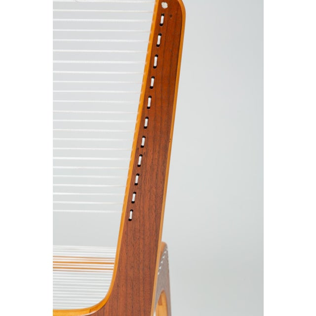Pair of Canadian Modernist Cord Chairs by Jacques Guillon For Sale - Image 9 of 13